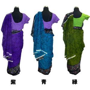 インドの民族衣装サリー アジアン エスニック コスプレ ジョーゼット バングラデッシュ ネパール スリランカでも mahanadi 03