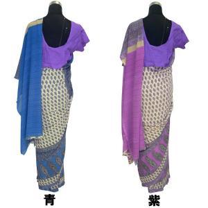 インドの民族衣装サリー アジアン エスニック コスプレ ジョーゼット バングラデッシュ ネパール スリランカでも FU-SR199|mahanadi|03