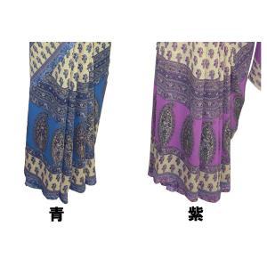 インドの民族衣装サリー アジアン エスニック コスプレ ジョーゼット バングラデッシュ ネパール スリランカでも FU-SR199|mahanadi|05