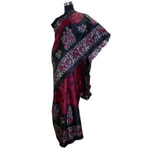 シルクテイストのレーヨン・サリー インドの民族衣装 アジアン エスニック|mahanadi