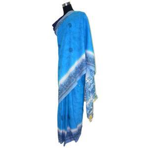 インドの民族衣装サリー 初夏に着たいパステルブルー アジアン エスニック バングラデッシュ ネパール スリランカでも|mahanadi
