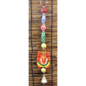 インドのガネーシャの天井・壁飾り ロング KO-BLL19|mahanadi
