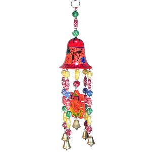 インドの天井・壁飾り 釣り鐘とガネーシャの豪華版 KO-BLL20|mahanadi