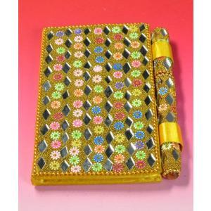 インドのド派手なイスラム風手帳 (黄2) mahanadi