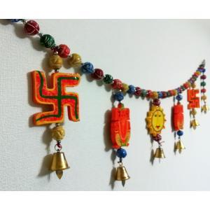 ガネーシャ神や卍のエントランス ゲート デコレーション 壁飾り アジアン雑貨 インド雑貨 ヒンドゥー エスニック|mahanadi