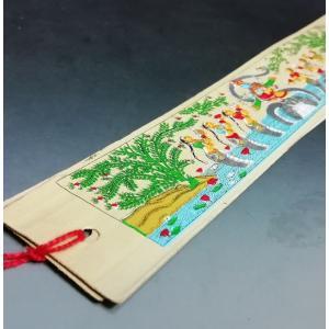 インドの椰子の葉しおり リバーシブル 神様等 貝葉 アジアン雑貨 輸入雑貨 エスニック エキゾチック|mahanadi