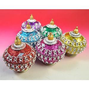 【アウトレット】 インドの彩色アルミ小物入れ 玉葱型 インド雑貨 アジアン雑貨|mahanadi