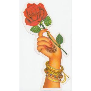 インド女性の手とバラのステッカー(右手) 両面プリント NST-HD2|mahanadi