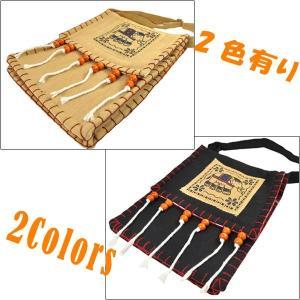 タイ製象さんポシェット 大判 ゴーズ 2色有 バックパッカー アジアン エスニック NU-BAG200220|mahanadi