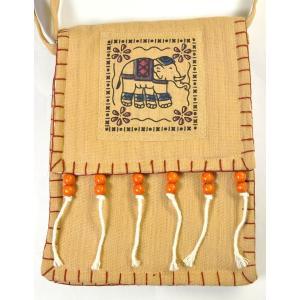 タイ製象さんポシェット 大判 ゴーズ 2色有 バックパッカー アジアン エスニック NU-BAG200220|mahanadi|02