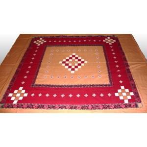 インドのマルチカバー ダブルサイズ・ベッドシーツ テーブルクロス等に エスニック アジアン ファブリック 布|mahanadi