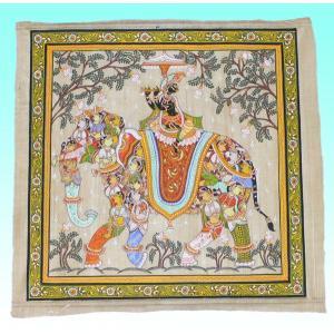 インドの細密画 オリッサ様式のクリシュナ|mahanadi