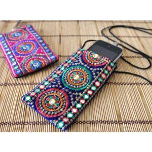 インドのエスニックデザイン携帯・スマホポシェット NU-MOB5|mahanadi