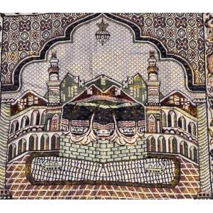 ムスリム礼拝用マット イスラム教 お祈り ラグ トルコ製 中東 モスク アラブ サッジャーダ NU-MPRY201003|mahanadi|03