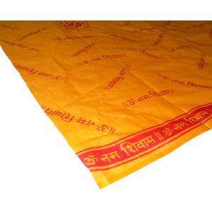 サフラン色 インドの多目的布 オレンジ サンスクリット シバ神 アジアン NU-ONS|mahanadi