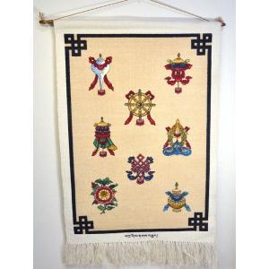 チベットのタペストリー 八吉祥文様|mahanadi