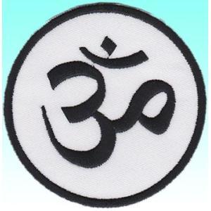 インドのワッペン サンスクリット文字オーム アイロン貼り付け可|mahanadi
