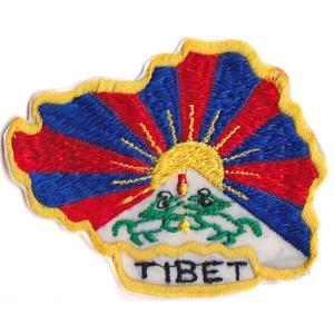 チベットの国土形国旗ワッペン|mahanadi