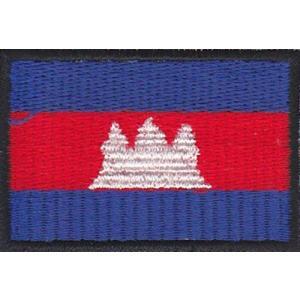 カンボジアの国旗ワッペン アイロン貼り付け可|mahanadi