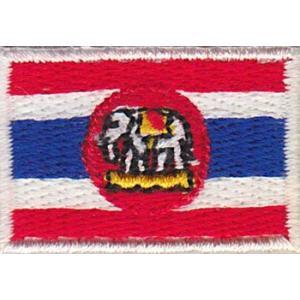 タイ軍艦旗のワッペン アイロン貼り付け可|mahanadi