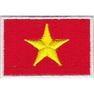 ベトナムの国旗ワッペン アイロン貼り付け可|mahanadi