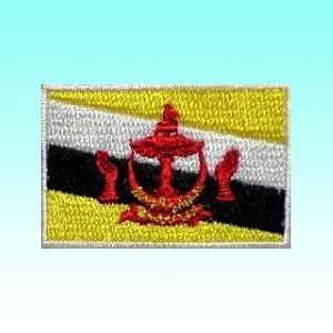 ブルネイの国旗ワッペン アイロン貼り付け可 アジアン雑貨|mahanadi