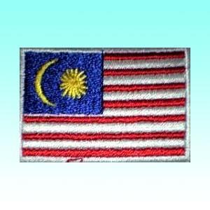 マレーシアの国旗ワッペン アイロン貼り付け可 アジアン雑貨|mahanadi