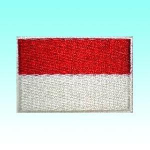 インドネシアの国旗ワッペン アイロン貼り付け可 アジアン雑貨|mahanadi