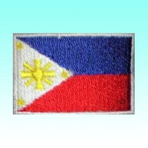 【お取り寄せ品】フィリピンの国旗ワッペン アイロン貼り付け可 アジアン雑貨|mahanadi