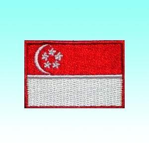 シンガポールの国旗ワッペン アイロン貼り付け可 アジアン雑貨|mahanadi