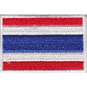 タイの国旗ワッペン アイロン貼り付け可|mahanadi