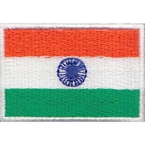 インドの国旗ワッペン アイロン貼り付け可|mahanadi