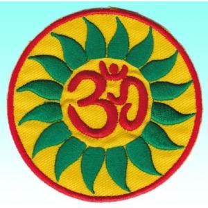 ネパールのワッペン サンスクリット文字オーム アイロン貼り付け可|mahanadi