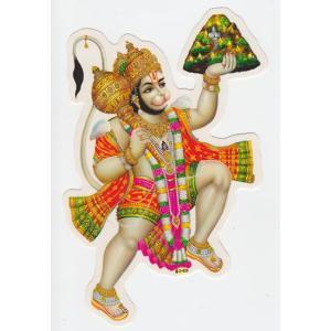 インドの両面プリント神様ステッカー ハヌマーン ヒンドゥー アジアン雑貨 エスニック|mahanadi