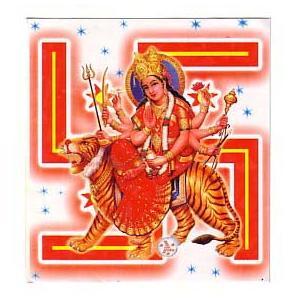 インドの神様ステッカー ドゥルガー PA-G-NST2|mahanadi