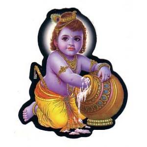 インドの神様ステッカー クリシュナ PA-G-NST4|mahanadi