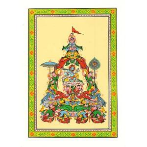 クリシュナの細密画カード|mahanadi