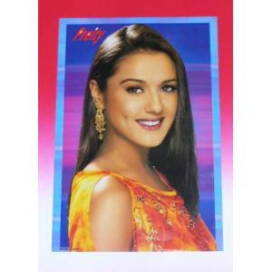 インド映画俳優プリティー・ジンタのポスター Preity Zinta ボリウッド インド雑貨 アジアン雑貨|mahanadi
