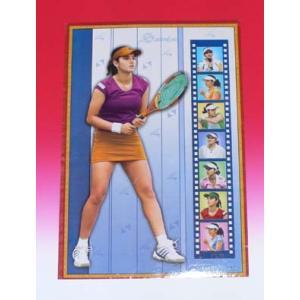 インドのテニスプレーヤー サニア・ミルザのポスター|mahanadi
