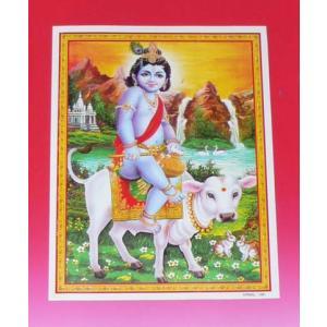 インドの神様ミニポスター / クリシュナ|mahanadi