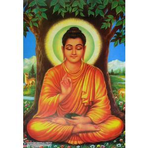 スリランカ仏陀ポスター 降魔成道 上座部仏教|mahanadi