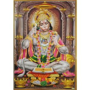 インドの神様ポスター ハヌマーン 変形A3サイズ ヒンドゥー教 アジアン エスニック|mahanadi