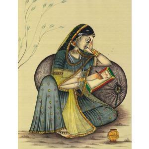 民族衣装・インド女性のラミネート加工ポスター|mahanadi