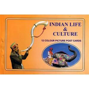インドの生活スタイルと文化のポストカード・ブック Indian Life & Culture 12枚綴り|mahanadi