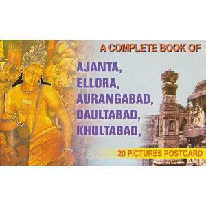 インドの観光地ポストカード・ブック アジャンター・エローラ20枚綴り|mahanadi