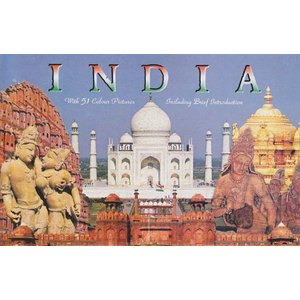 インド観光地のポストカード・ブック 18枚綴り|mahanadi