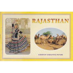 インドの観光地のポストカード・ブック ラジャスタン 12枚綴り|mahanadi