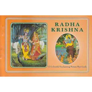 インドの神様絵葉書ブック ラーダ・クリシュナ 12枚綴り|mahanadi