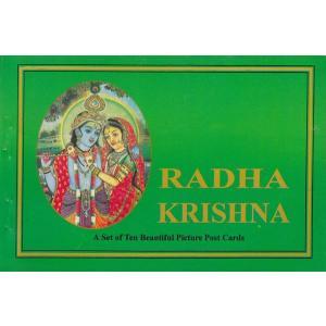 インドの神様絵葉書ブック ラーダ・クリシュナ 10枚綴り|mahanadi
