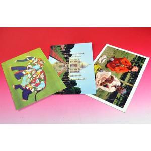 インドのポストカード3枚セット タージマハル 蛇使い等 絵葉書 アジアン雑貨 エスニック PSTCD-SET1|mahanadi